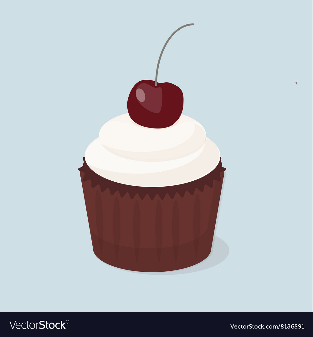 Sweet cupcakes isolated