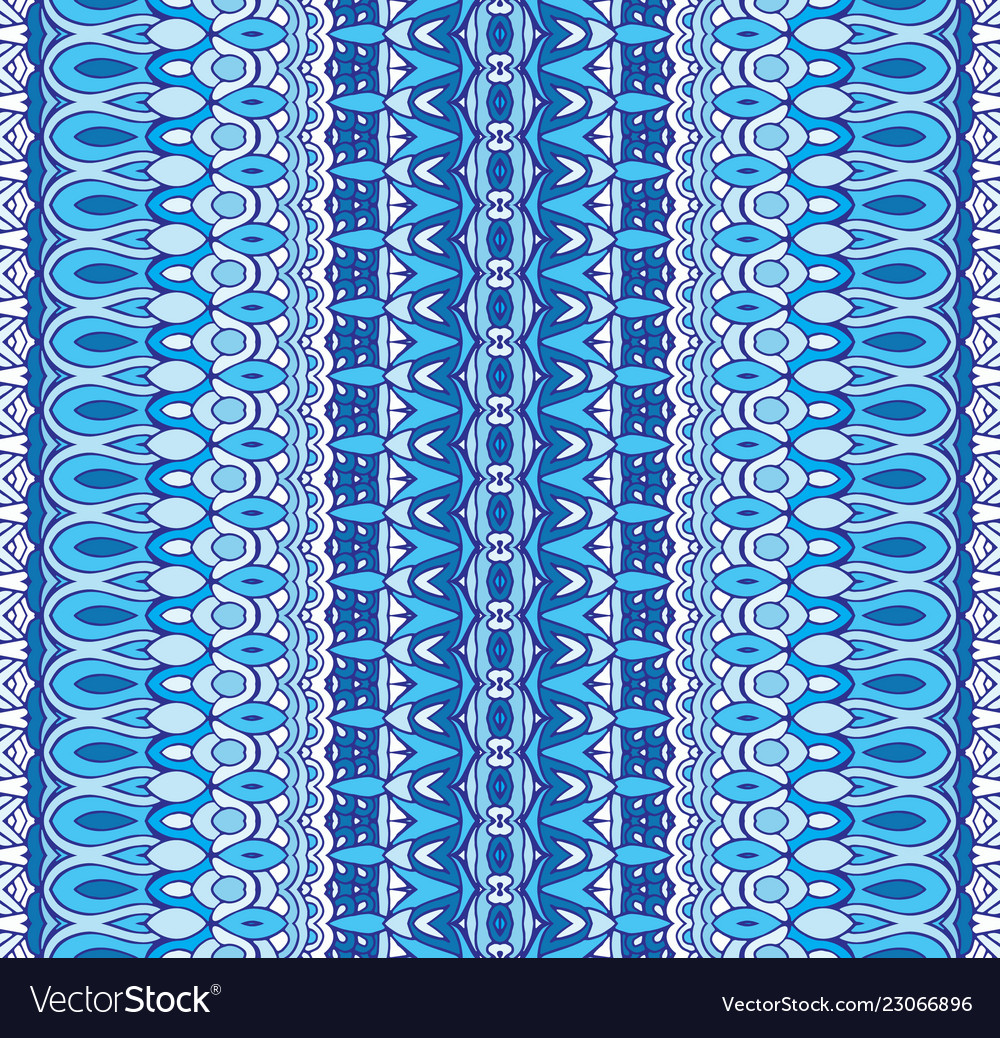 Abstract geometric blue striped carpet border