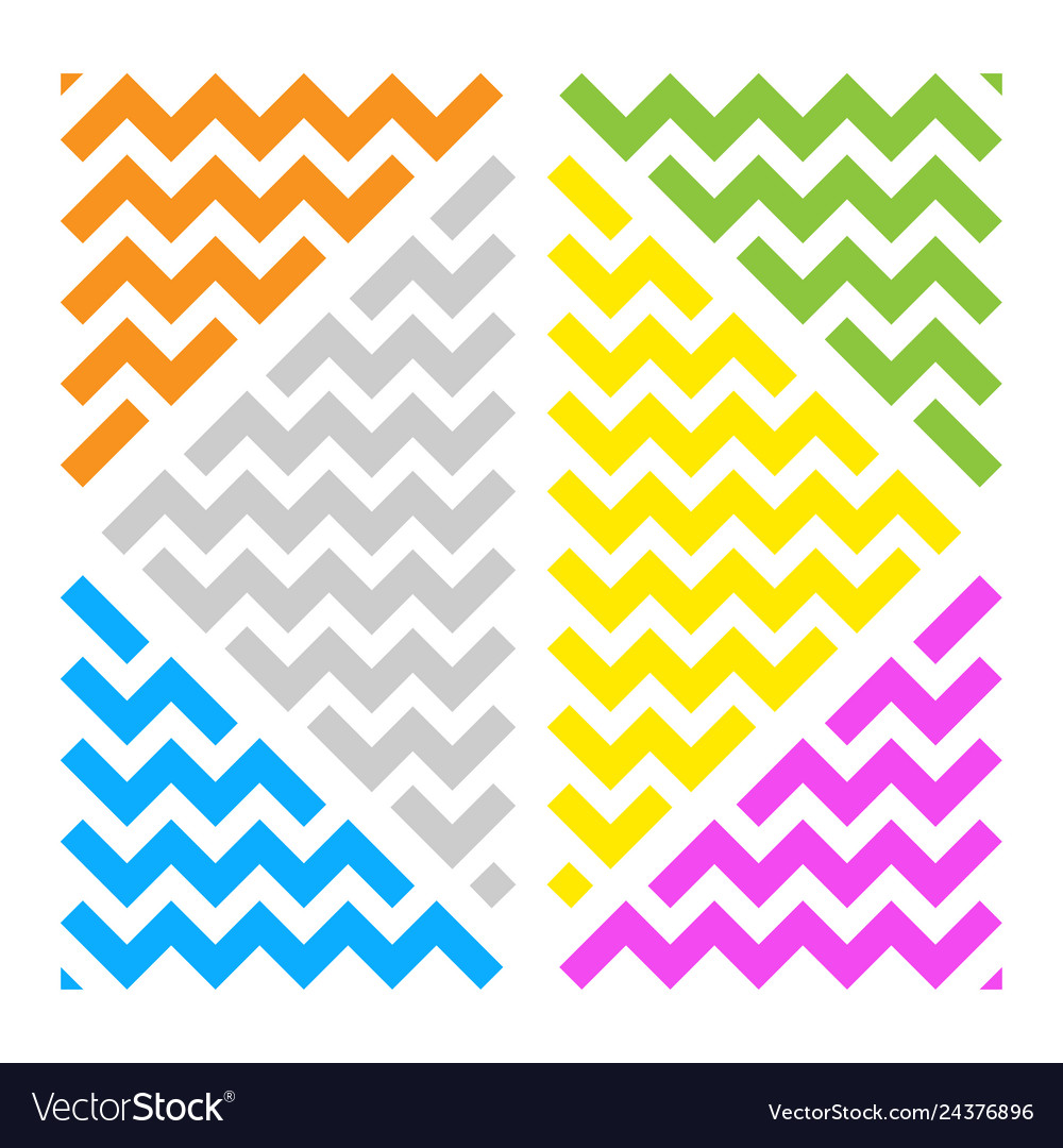 Abstract wave ornament color triangles white bg vector image