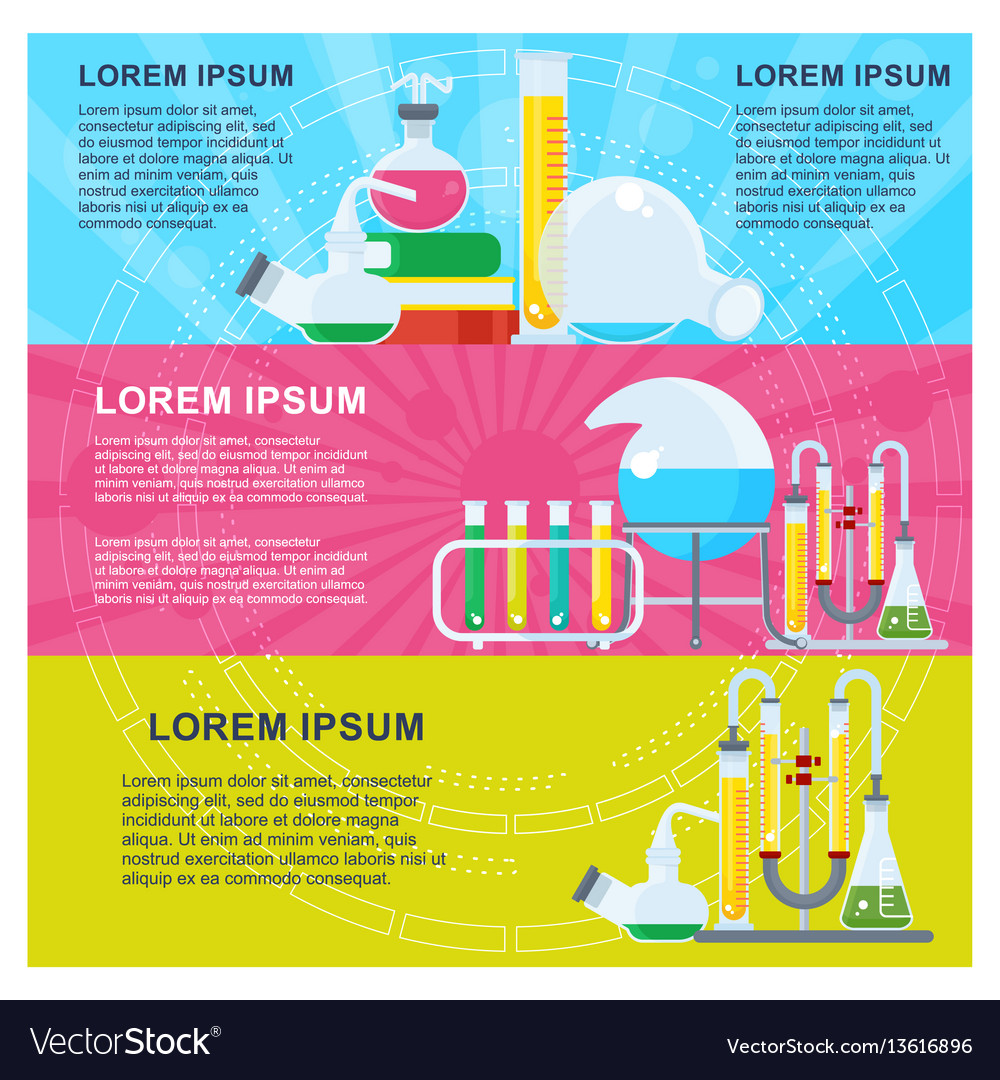 Banner for chemistry vector image