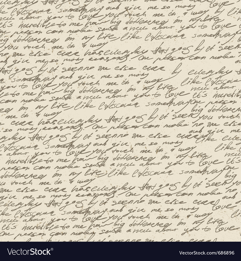 Handwriting background vector image