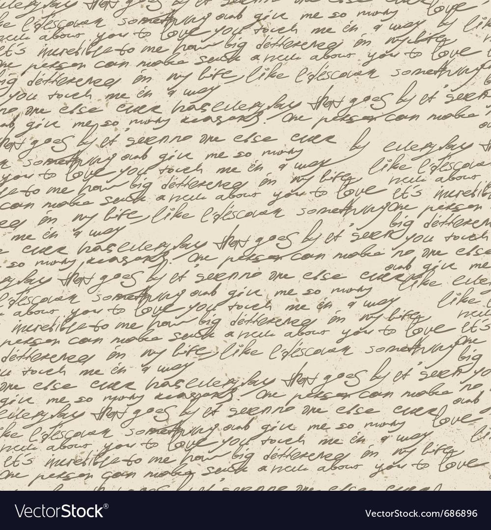 Handwriting background