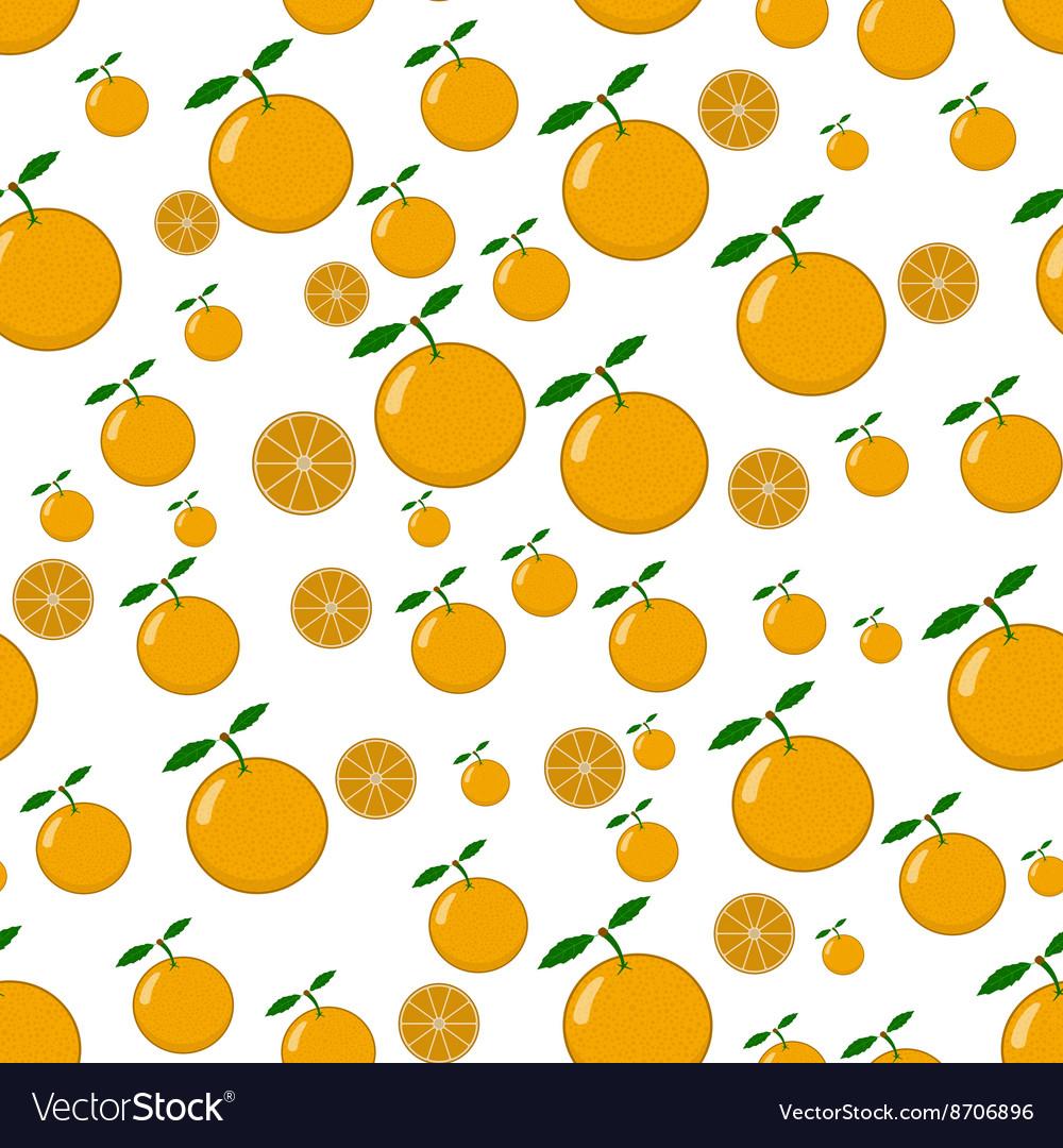 Seamless pattern of orange