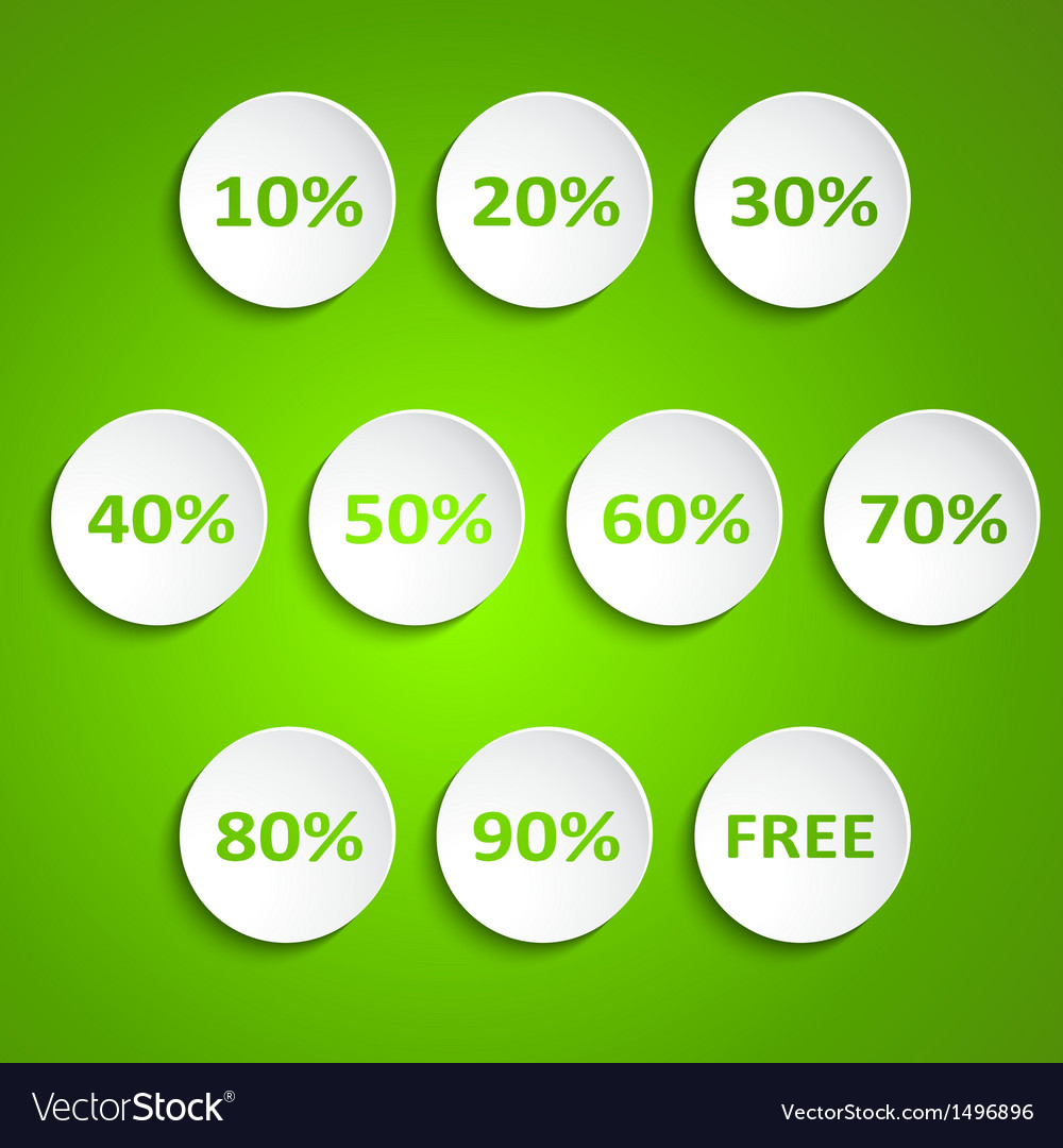 Set of simple round wheels with discounts