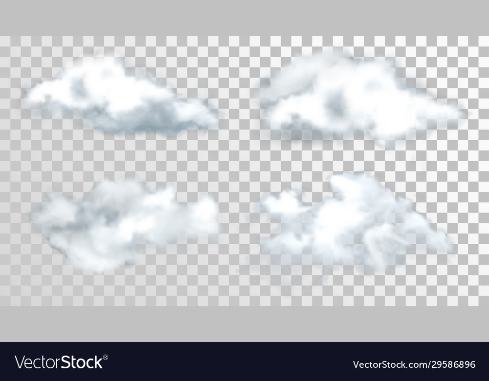Sky or heaven clouds isolated on transparent