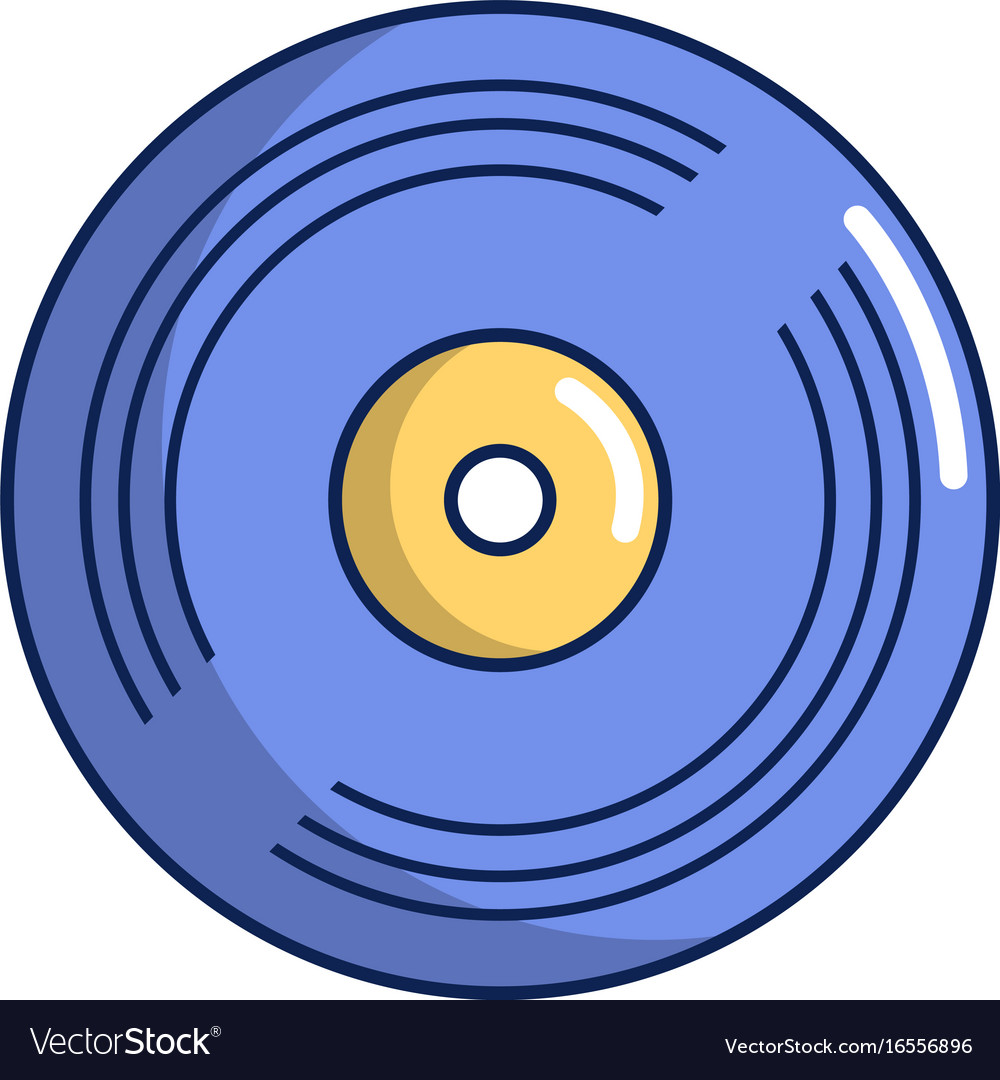 vinyl record icon cartoon style royalty free vector image rh vectorstock com vinyl vector free vinyl vector art