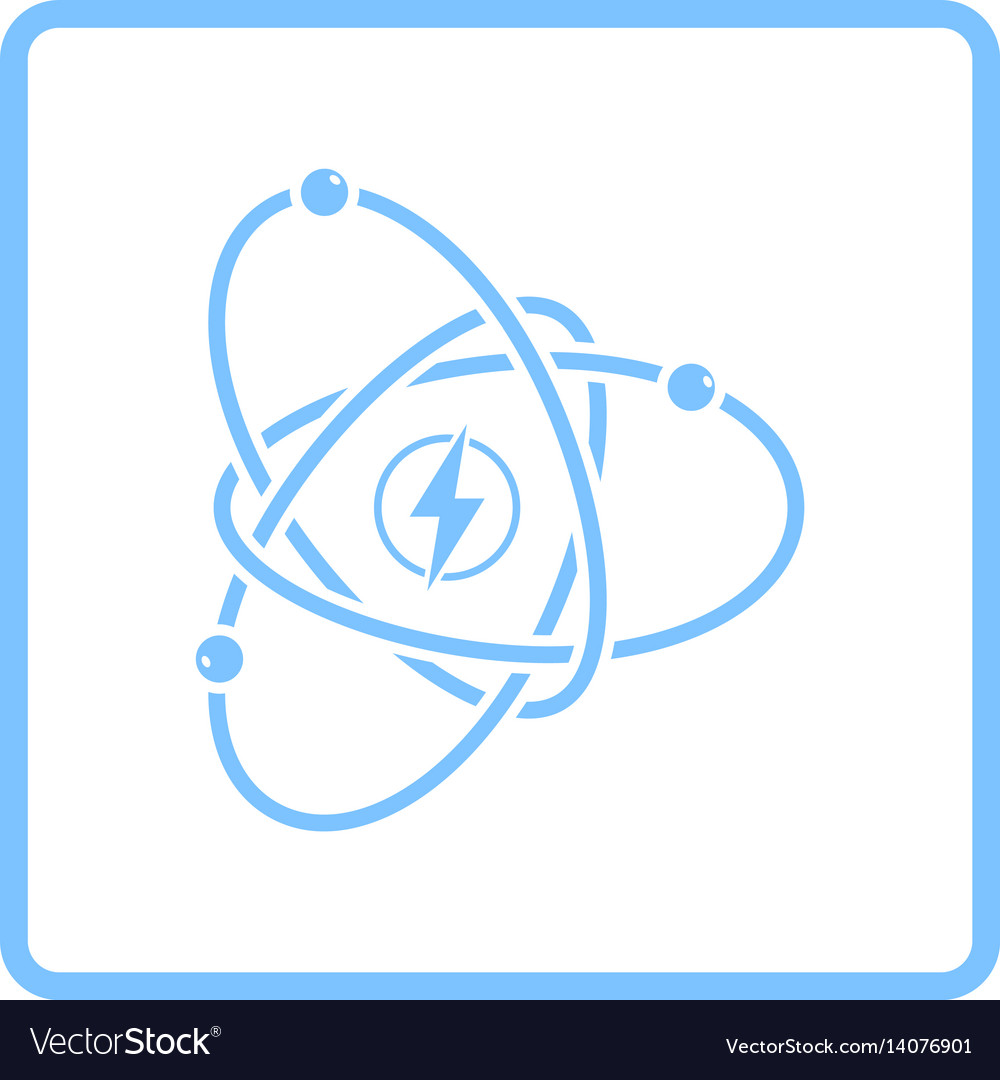 Atom energy icon vector image