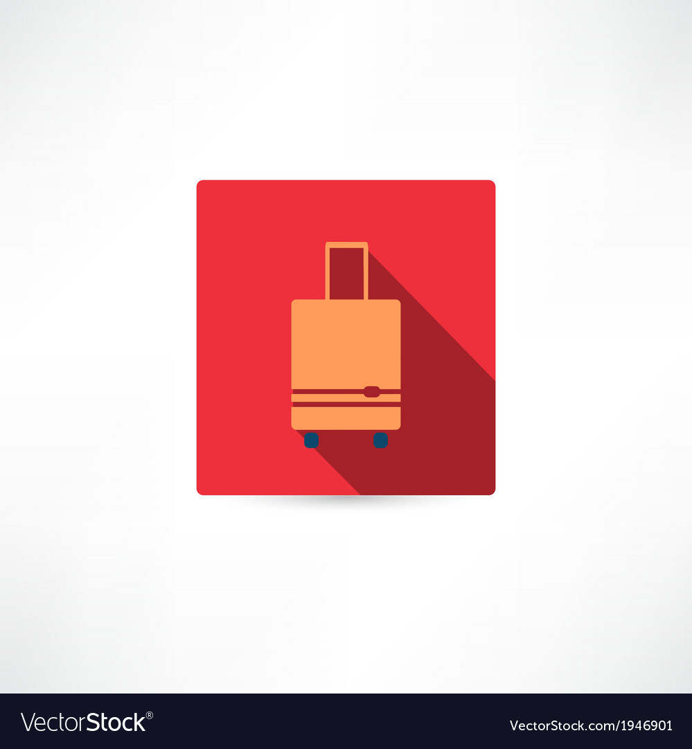 Brown luggage vector image