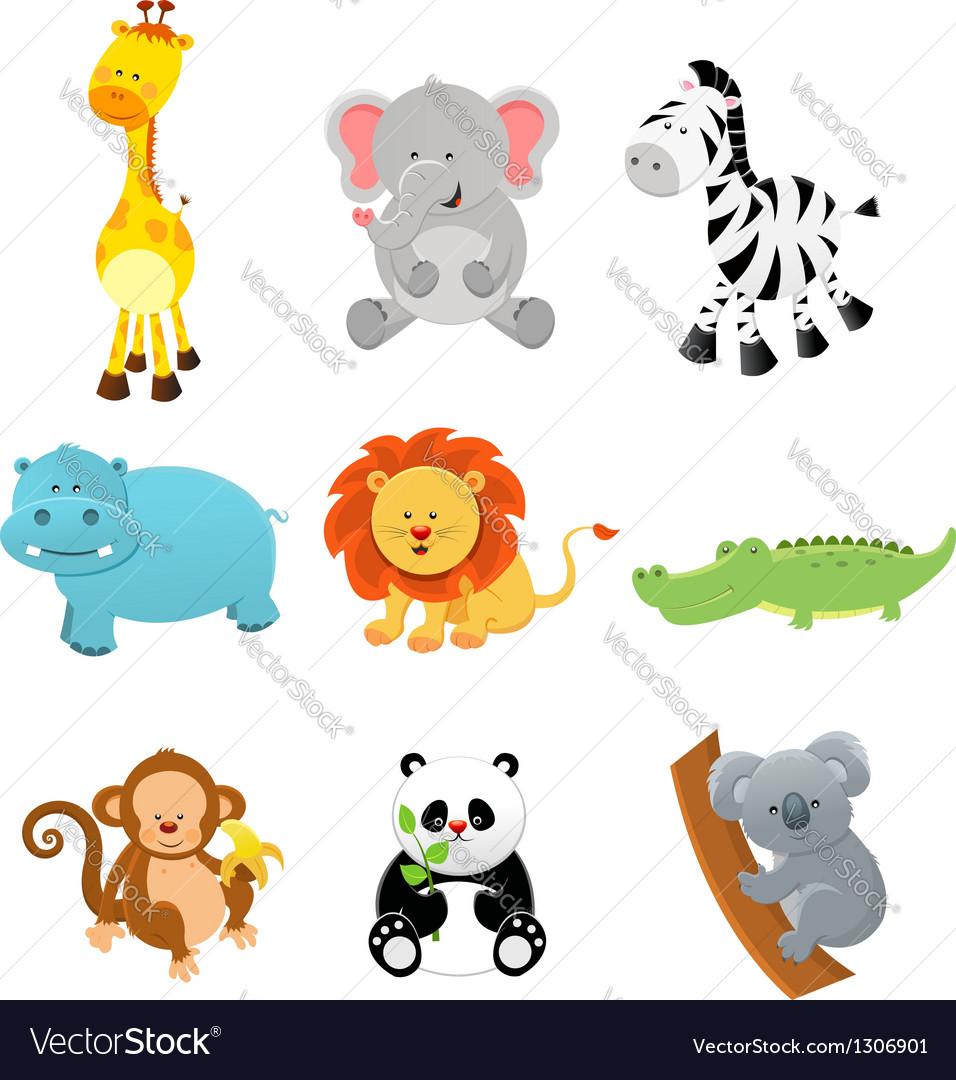 Collection of Safari Animals
