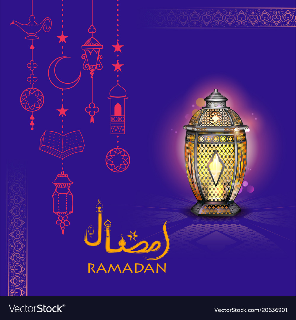 Ramadan kareem generous ramadan greetings for vector image m4hsunfo