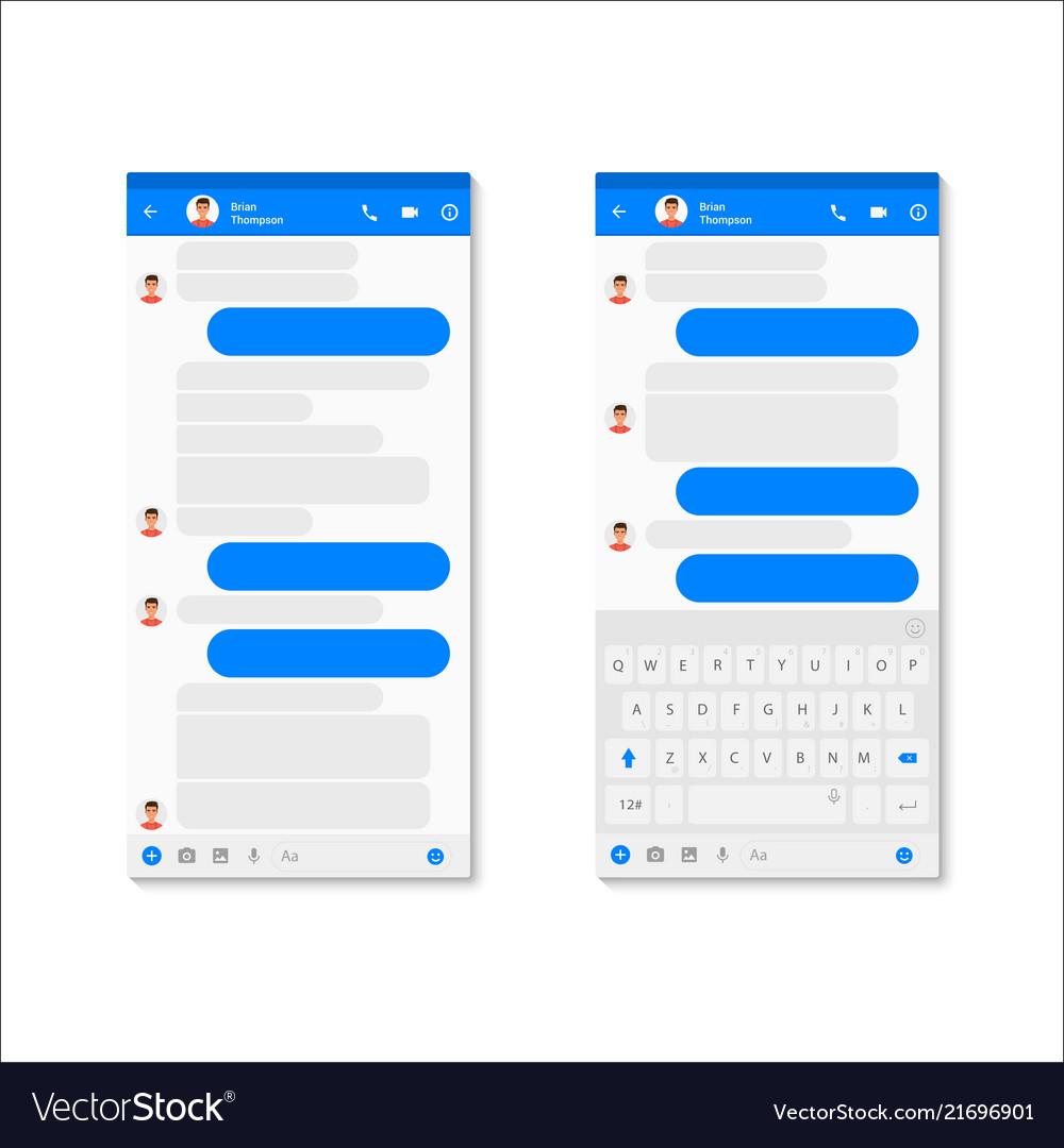 Social Network Messenger Concept Template Modern Vector Image