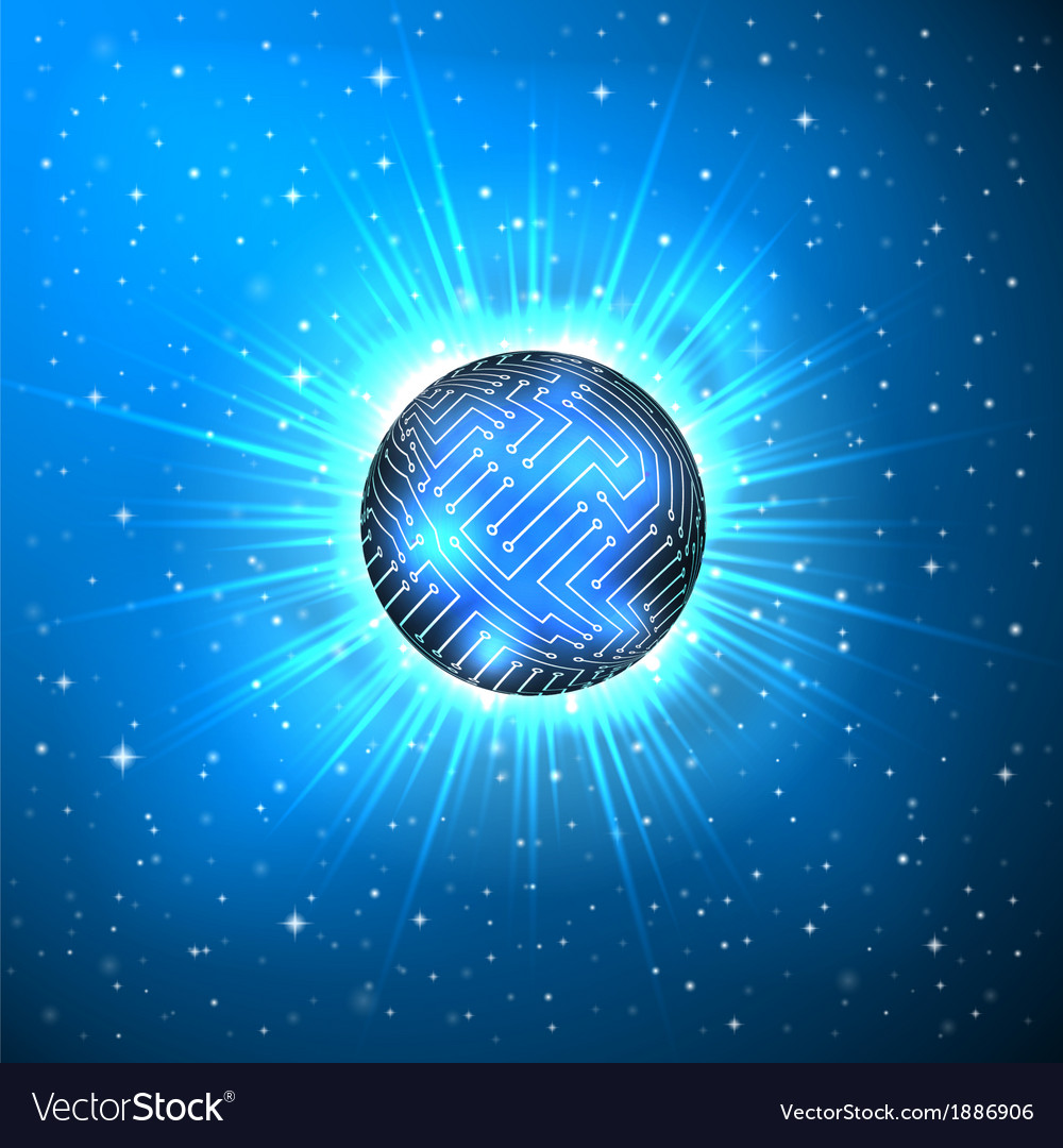 Abstract Sphere Of Electronic Circuitry Royalty Free Vector Circuits Explained Image