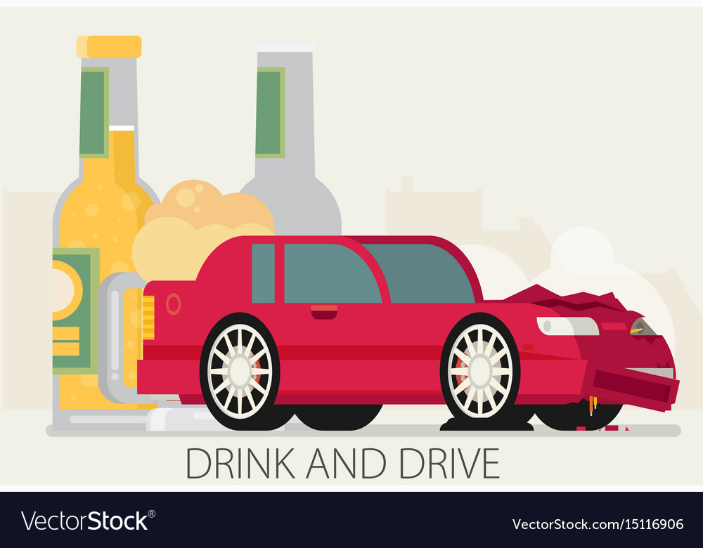 Alcohol influenced driving causes car crash
