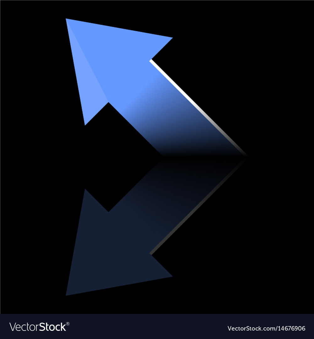 Arrow blue symbols on a black backgroundbusiness