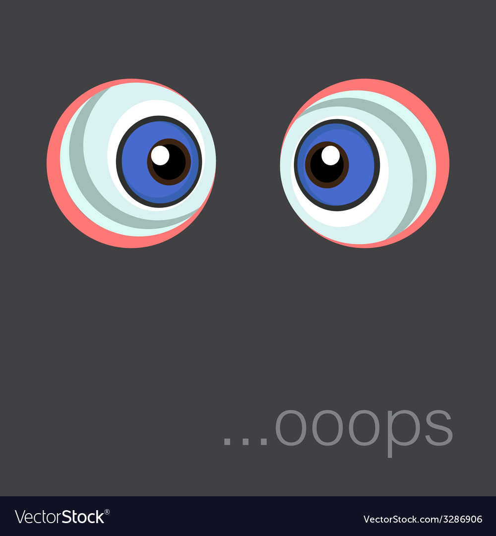 Background with cartoon eyes Eps 10 vector image