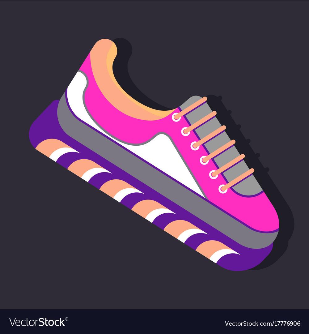 Bright sneaker icon