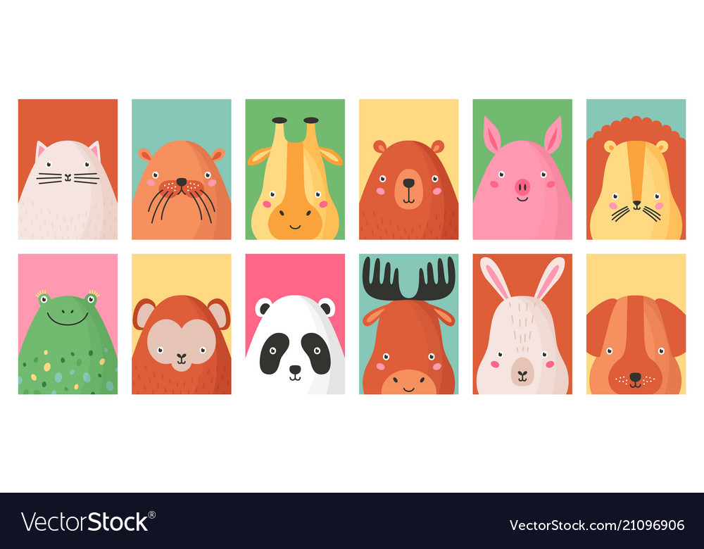 Collection colorful card templates