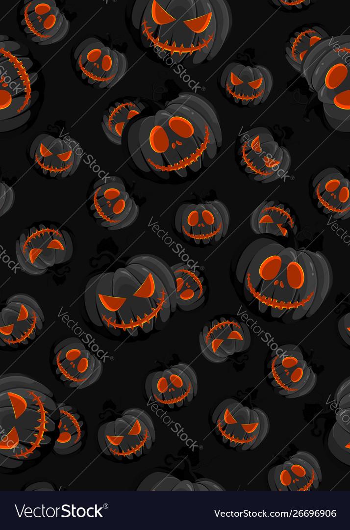 Halloween horror pumpkin jack-o lantern seamless