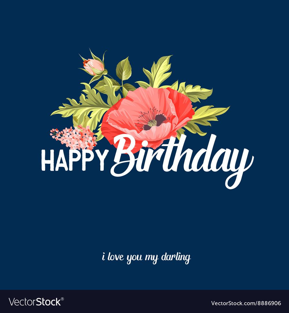 Happy birthday text lettering