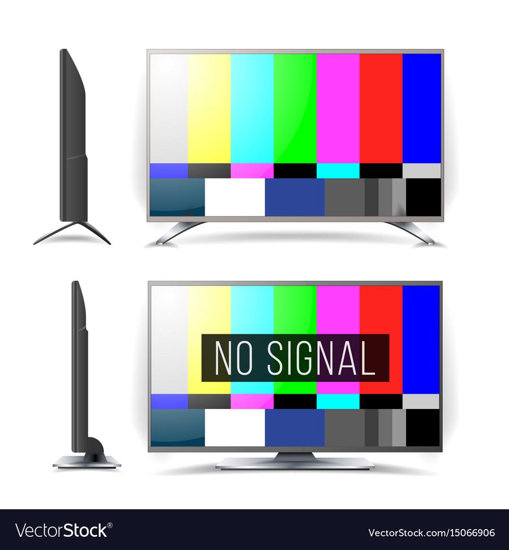 No signal tv test pattern lcd monitor