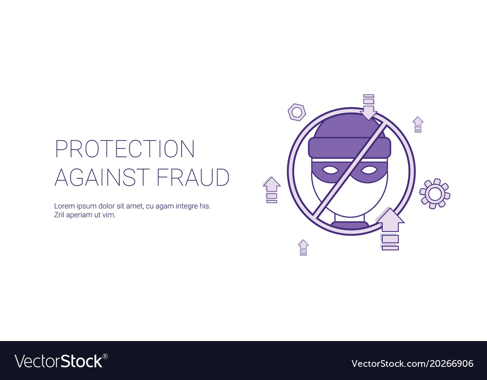 Protection against fraud template web banner with