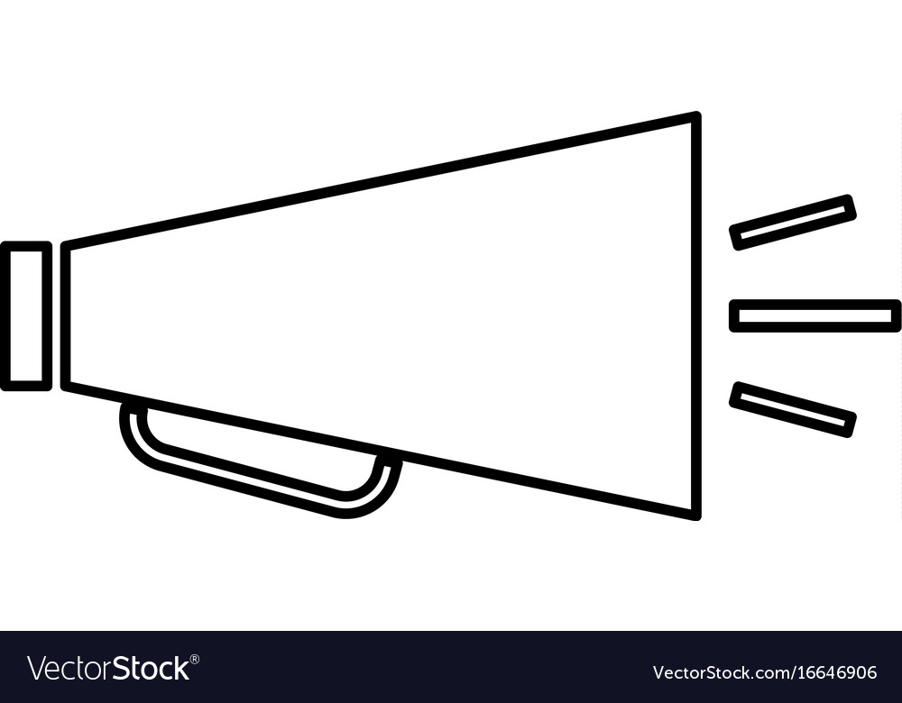 Retro loudspeaker black color icon vector image