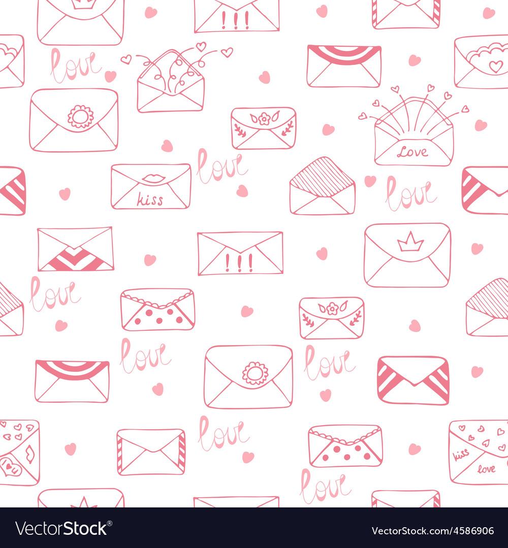 Romantic seamless pattern Cute background