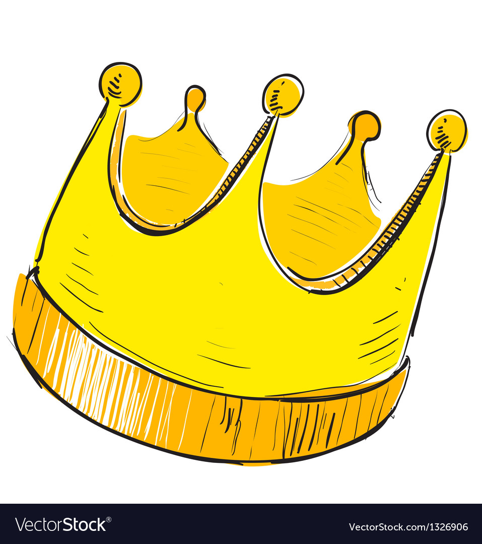 Simple Crown Icon Royalty Free Vector Image Vectorstock Set of 7 vector monochrome crowns for your cards, backgrounds, postcards, illustrations and other designs. vectorstock