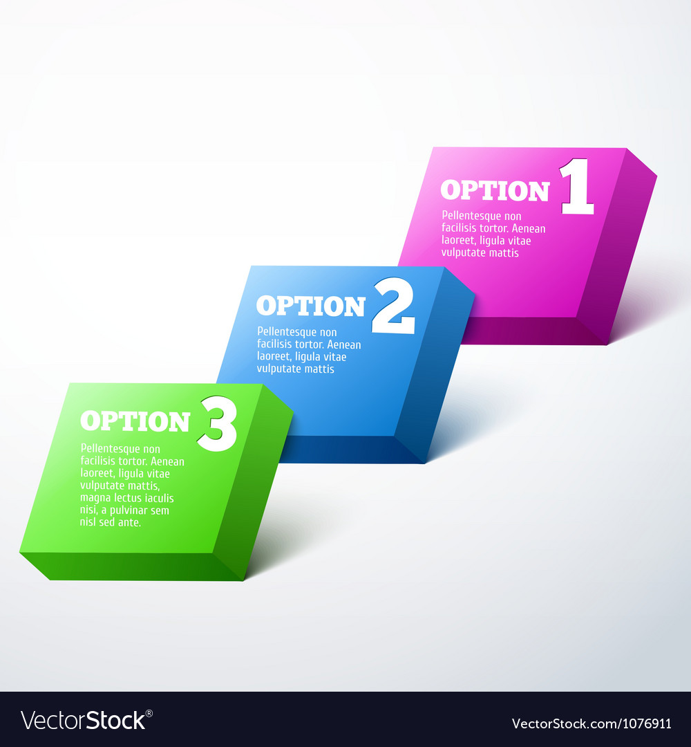 3D Progress background product choice or versions