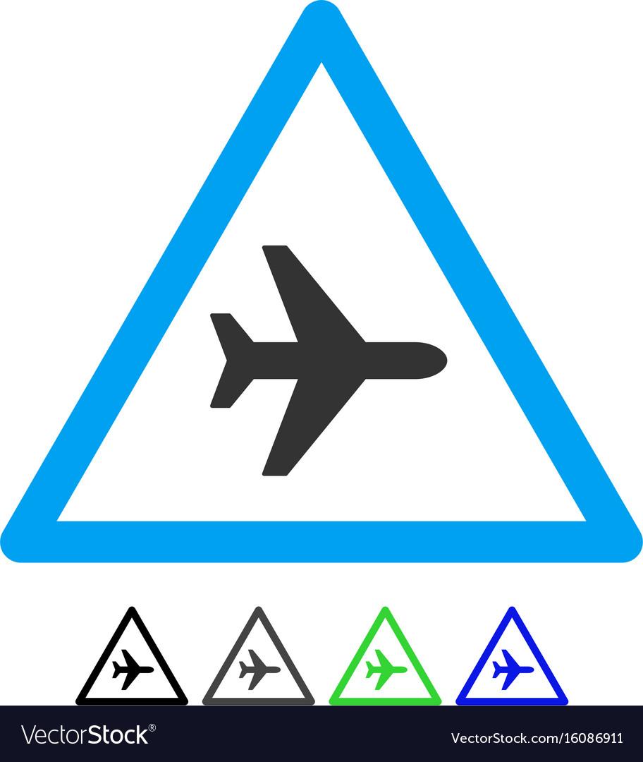 Airplane danger flat icon