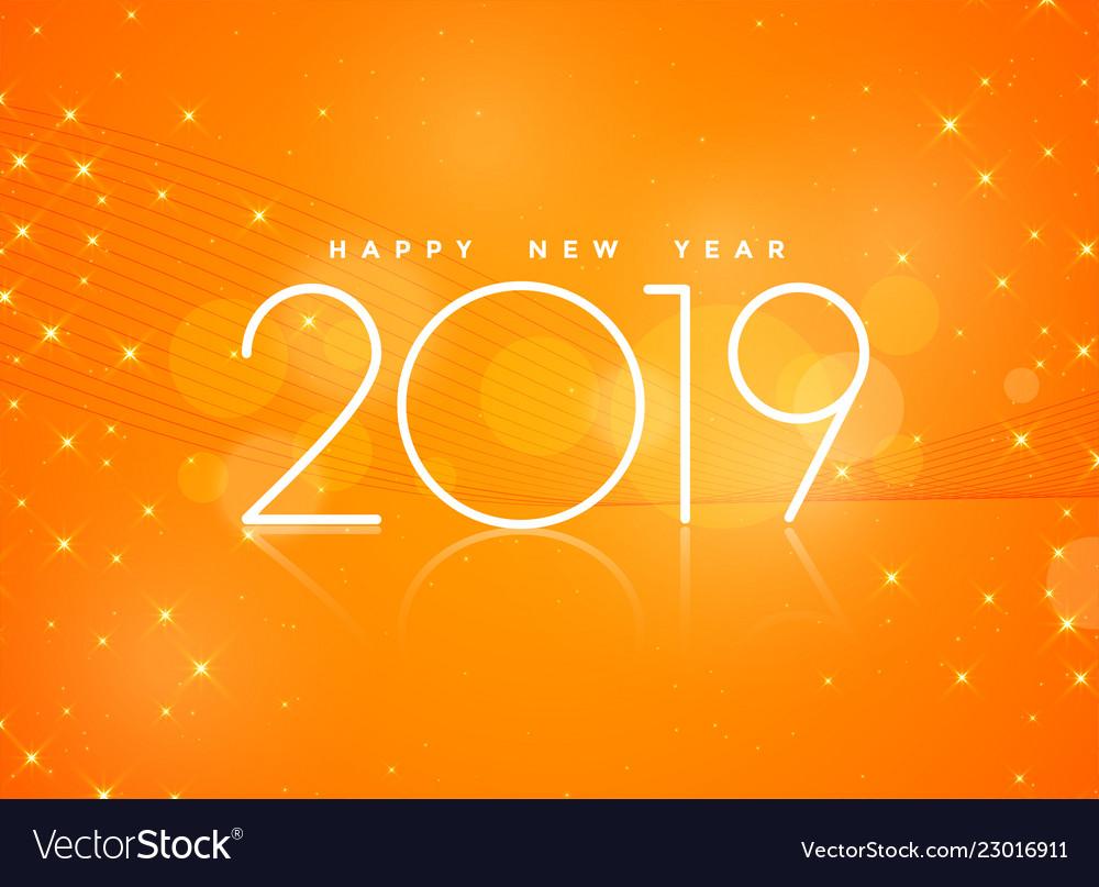 Happy New Year Orange 2