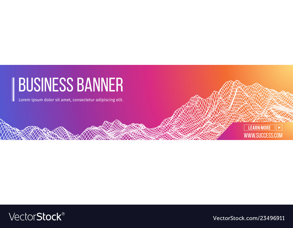 Computer banner business banner design eps