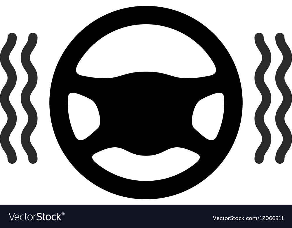 Driving Wheel Warmer Heater Icon Royalty Free Vector Image
