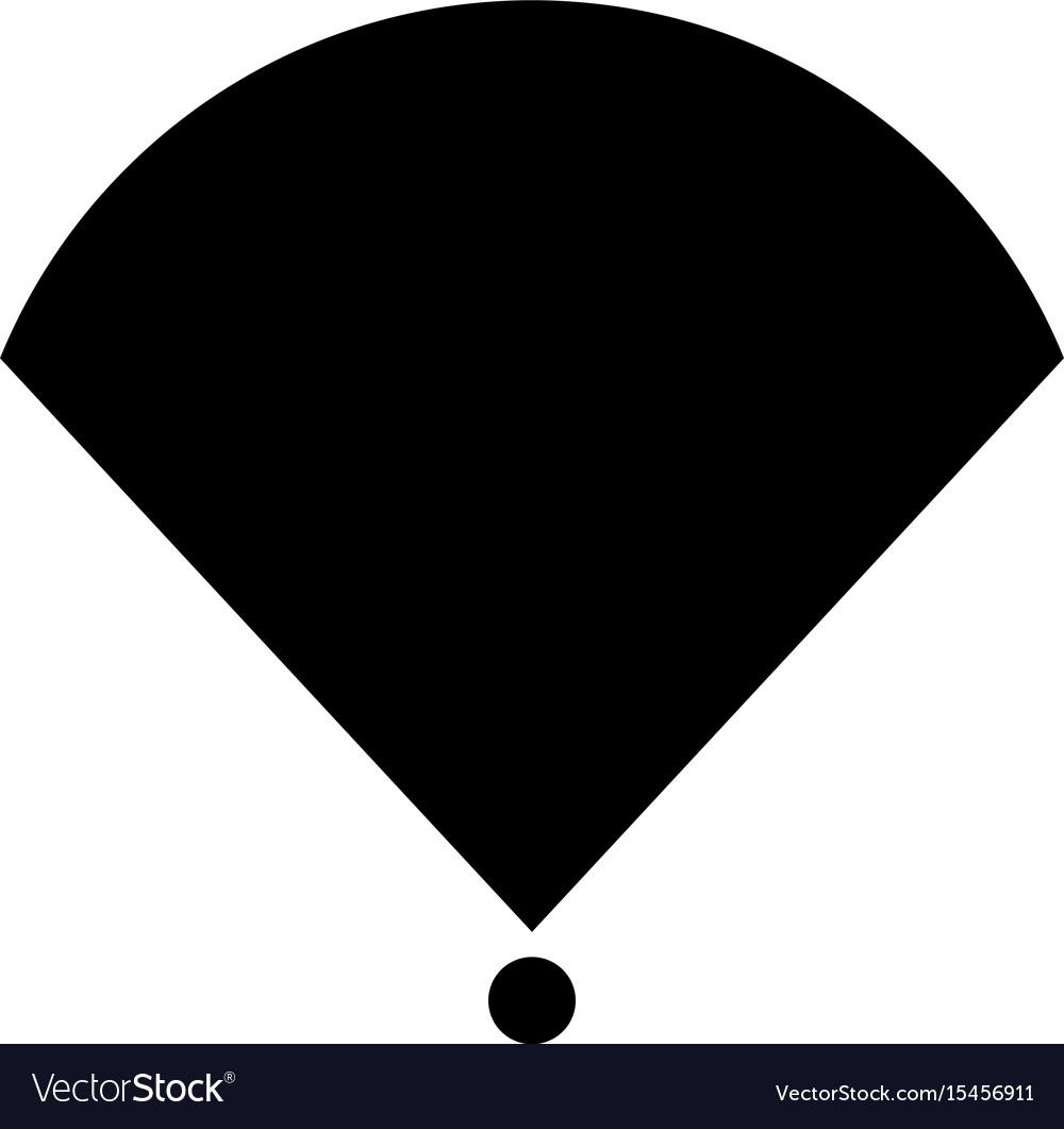 Location or radar the black color icon