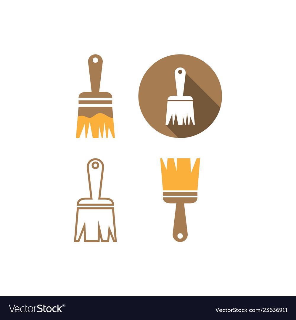 Paint brush icon graphic design template