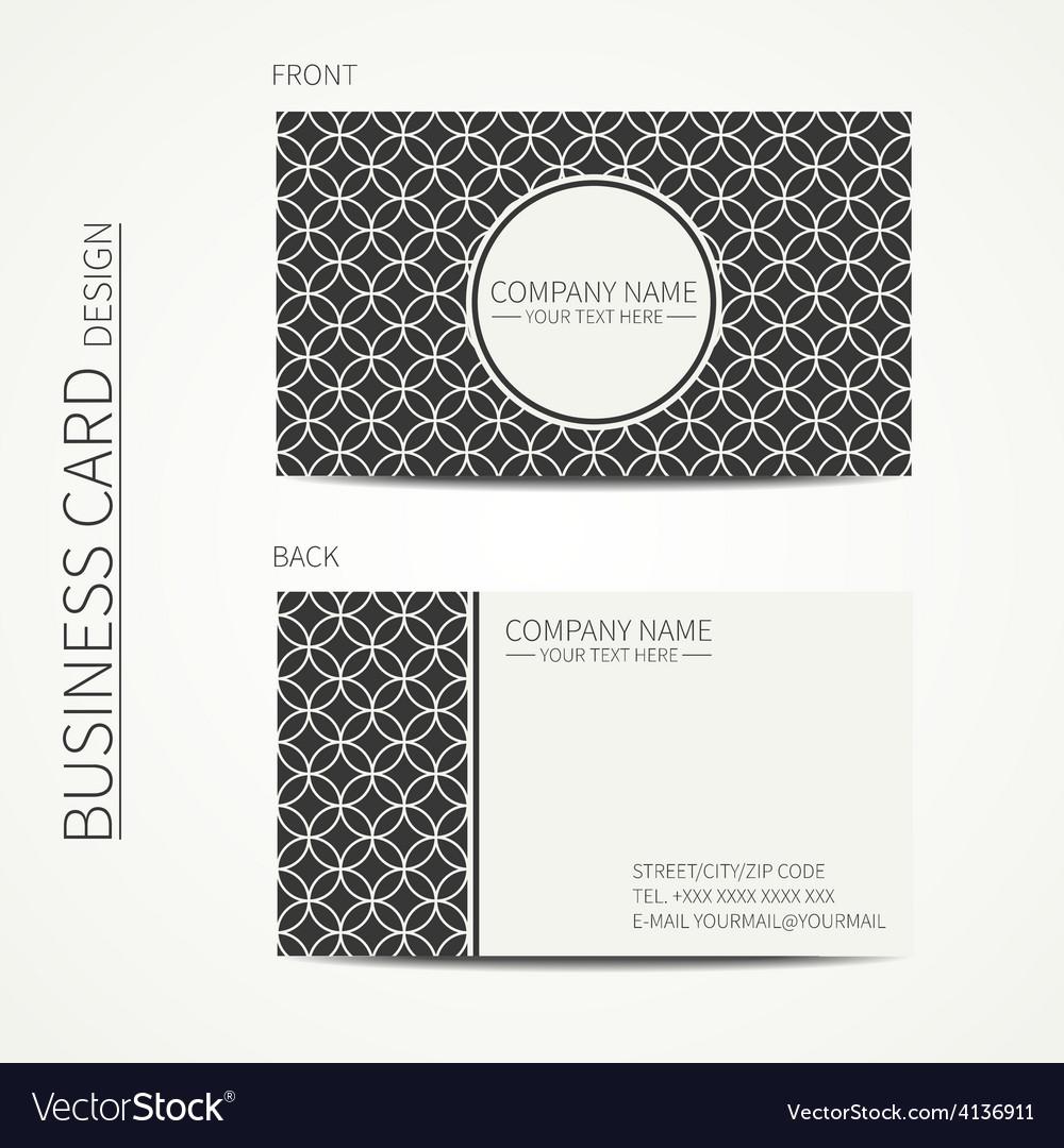 Vintage creative simple monochrome business card