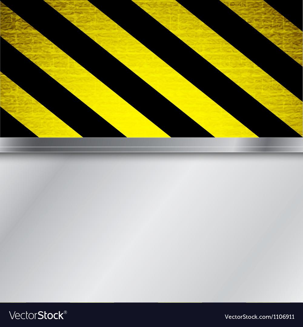Warning stripe background vector image