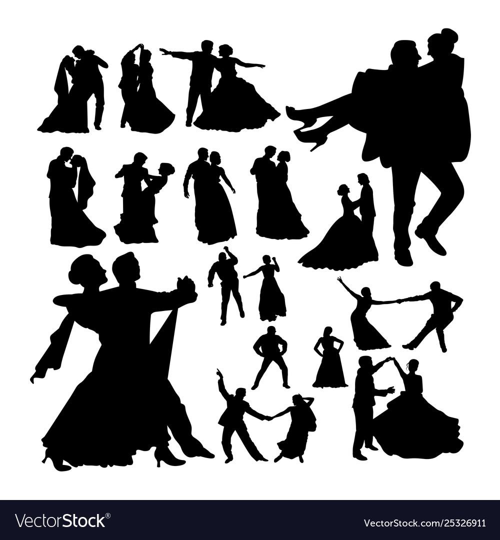 Wedding dance silhouettes