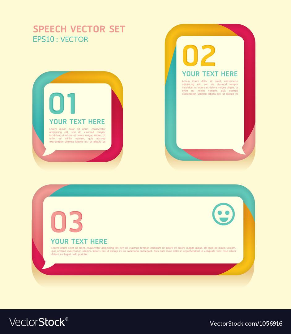 Banner speech bubbles soft color vector image