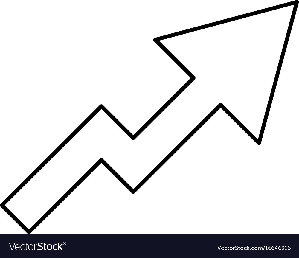Chart Of Growth Black Color Icon Royalty Free Vector Image Seed Germination Diagram