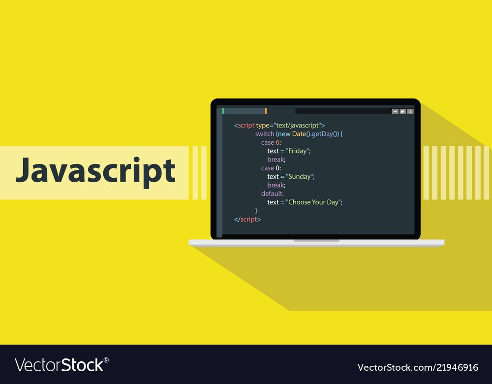 Javascript programming language with script code