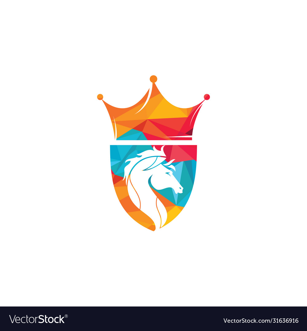 King Horse Logo Design Royalty Free Vector Image