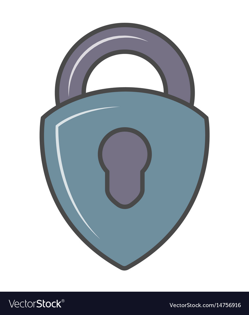 Security padlock isolated pictogram