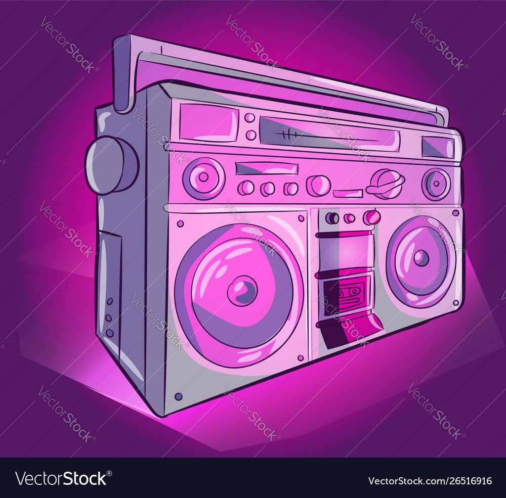 Stereo audio radio pink and purple