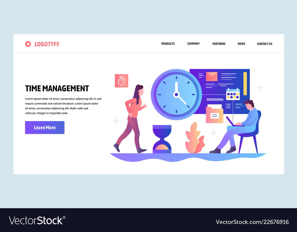 Web site design template time management