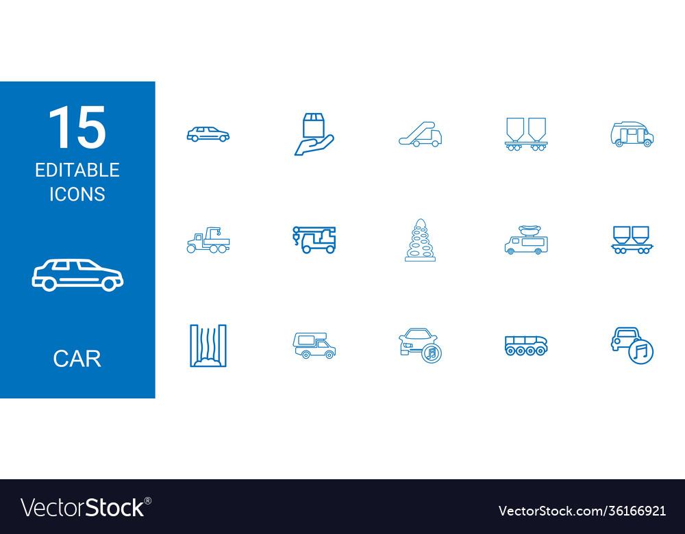 15 car icons