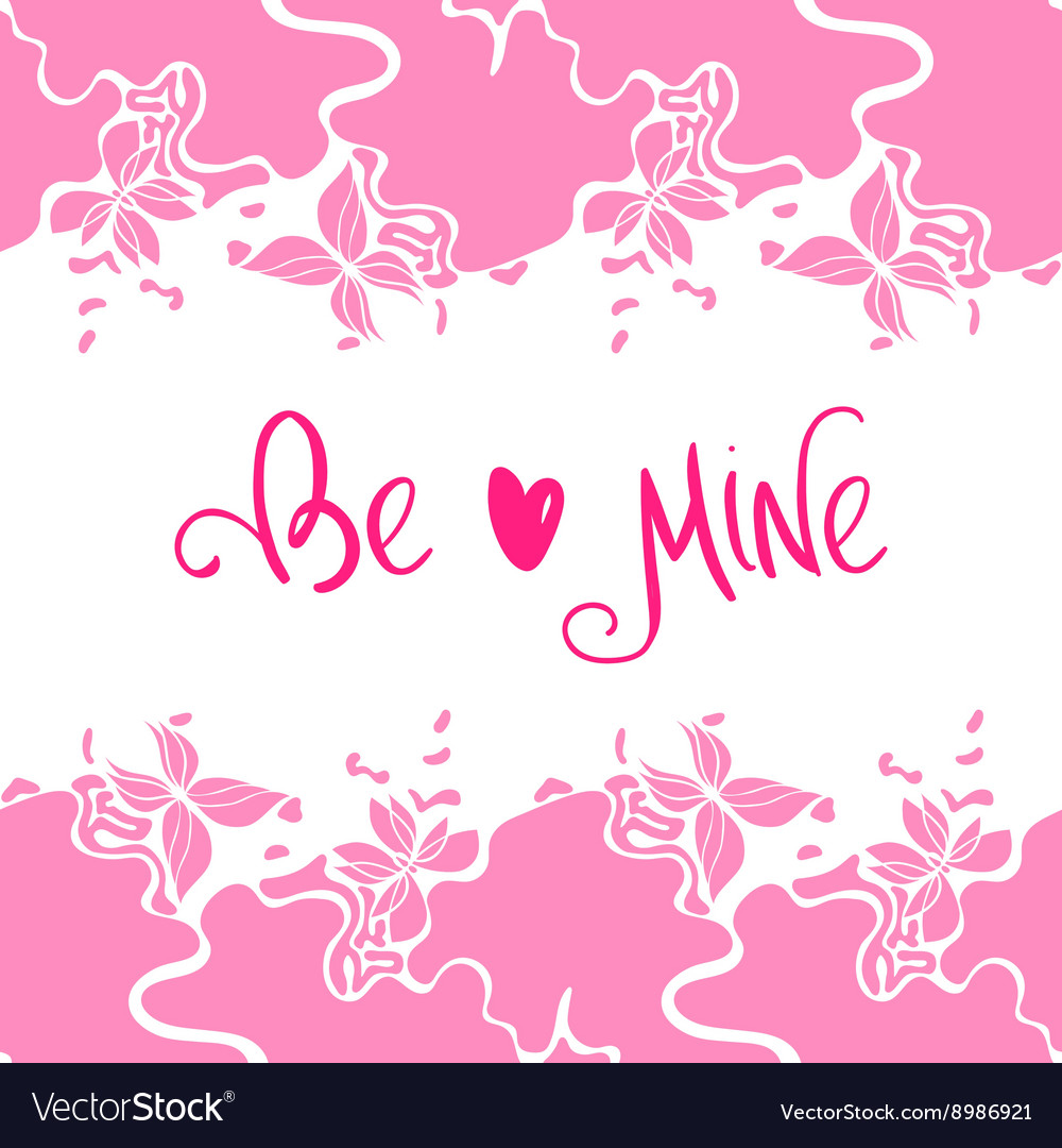 Butterfly Border Pink vector image
