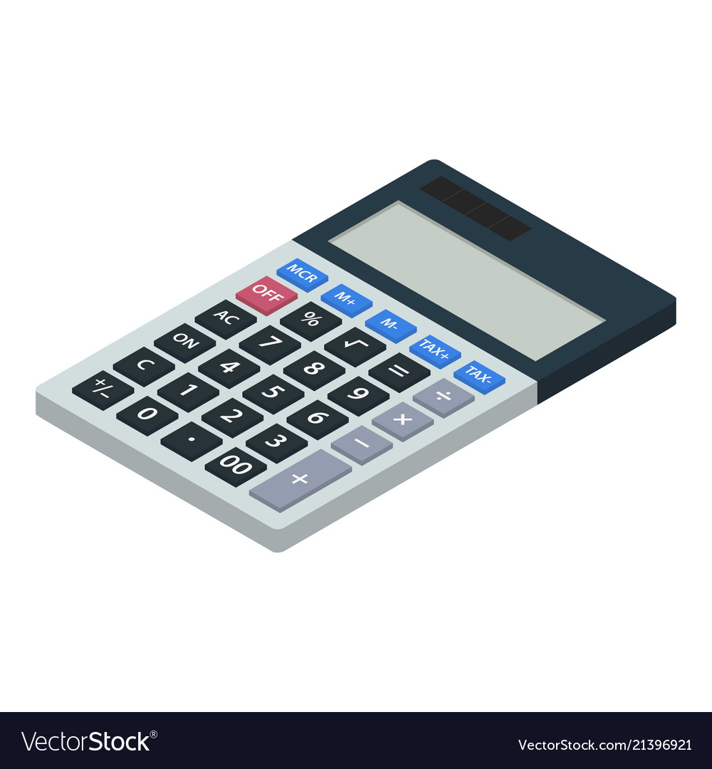 Calculator icon isometric style
