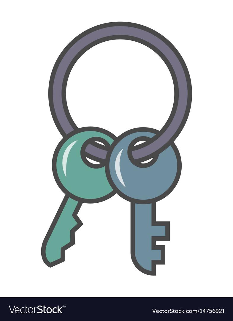 Door key isolated pictogram