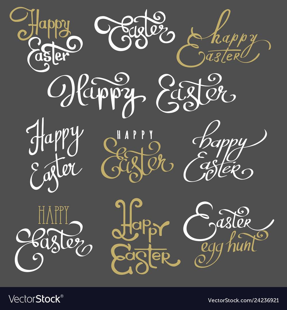 Easter lettering emblems